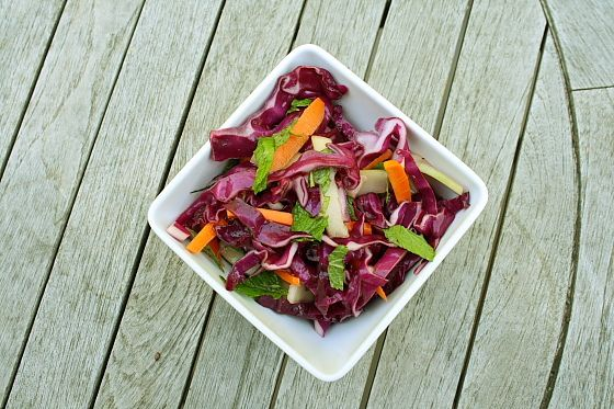 Minty Asian Coleslaw by Delishhh, via Flickr