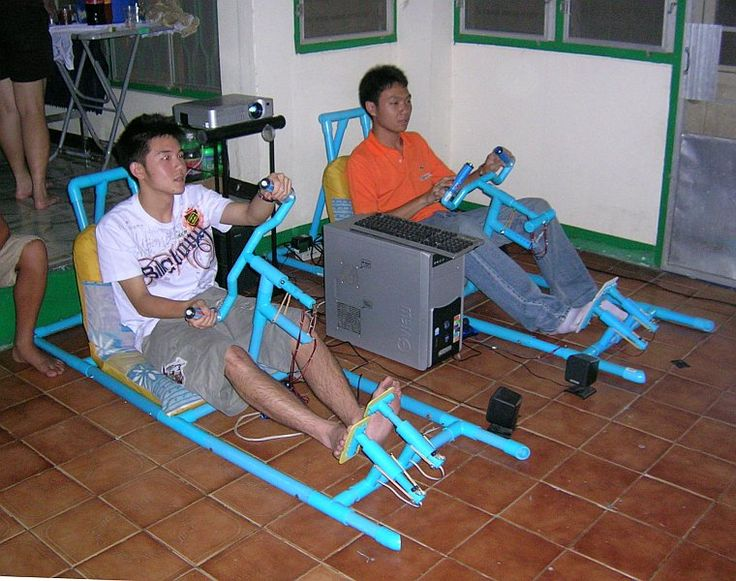 Pvc Projects Thai Students Playing Daytona Usa In Pvc