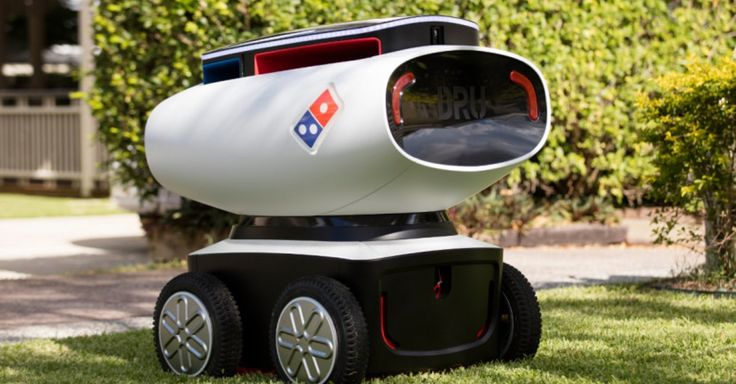 Domino's is testing an autonomous pizza delivery robot truck on the streets of Australia. 2016.03