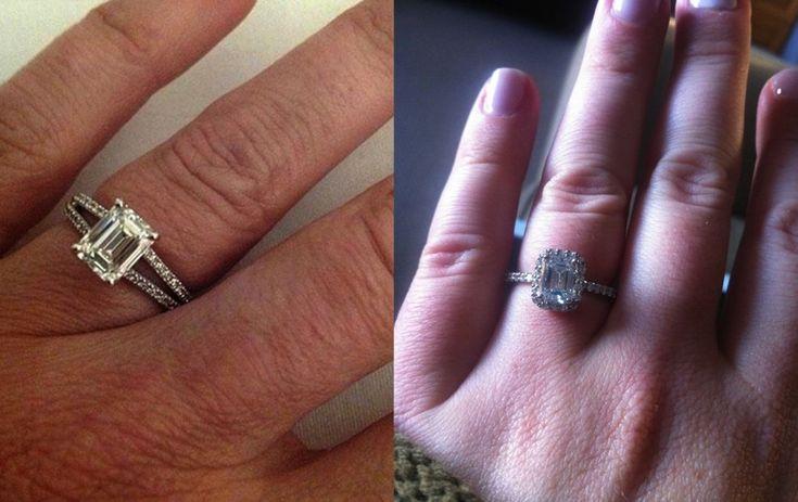We love these emerald-cut #Ritani rings!