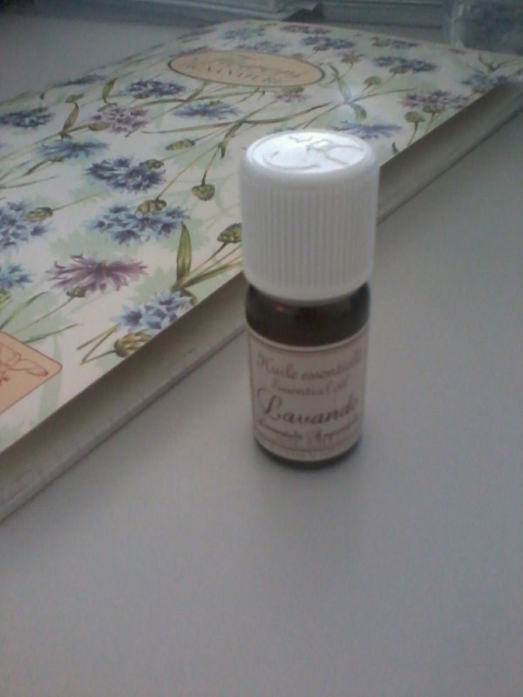 Lavander oil -gently donated by my friend Elvira!