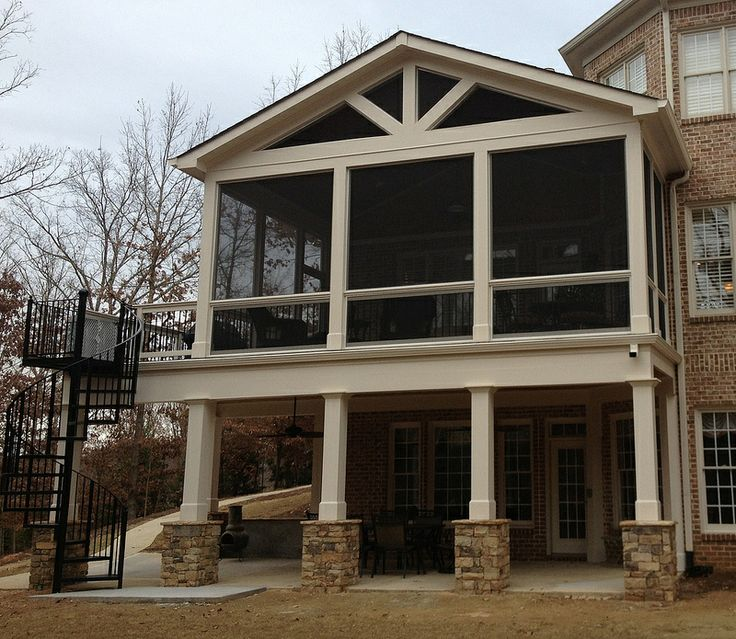 Porches With Stone Columns : Best images about deck column ideas on pinterest
