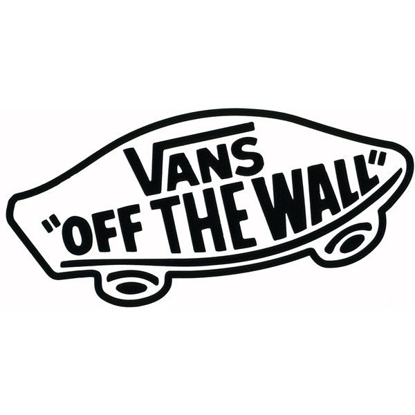 VANS Off The Wall Sticker (u20ac2,22) ❤ Liked On Polyvore Featuring Part 84