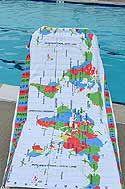 World Time Zones super microfiber travel towel