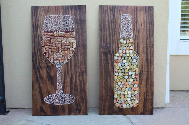 DIY Wine Cork String Art Tutorial | Sam Rhymes with Ham