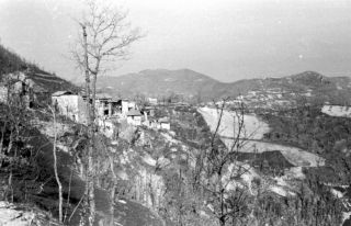 (80) March 1945. View of Pietra Colora, Italy
