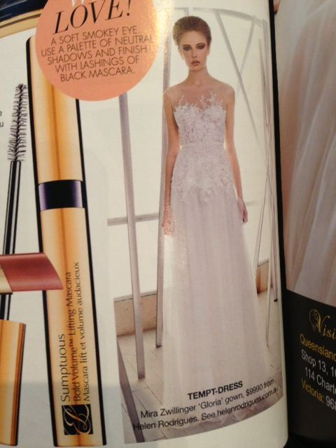 Helen Rodrigues featured in Bride to be Australia (Aug-Oct issue)