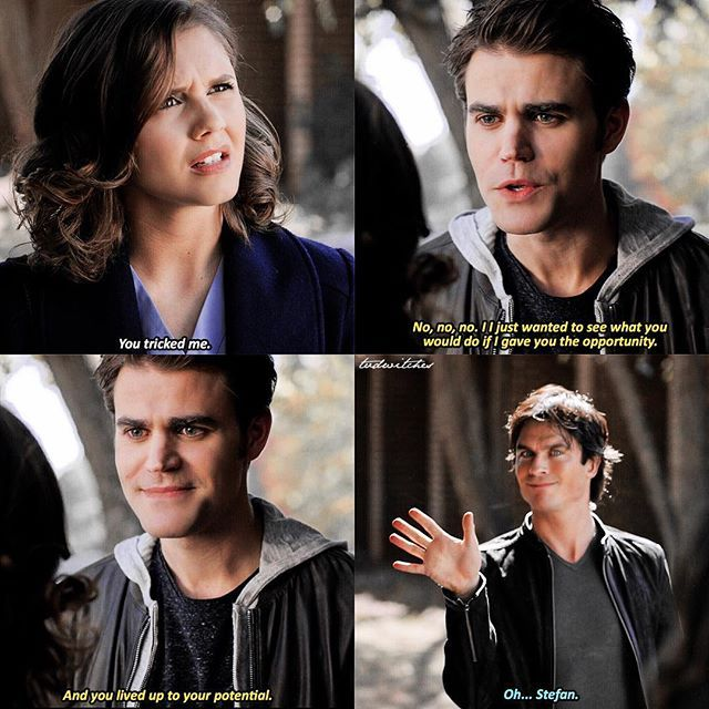 TVD [8x08] Stefans face in this has me dead he looks like a proud mom —— q: Do you think Tara looks like Elena? a: not really lmao