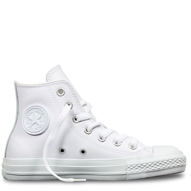 Chuck Taylor All Star Leather Hi White | Free Shipping * | Buy authentic sneakers and gear direct from Converse