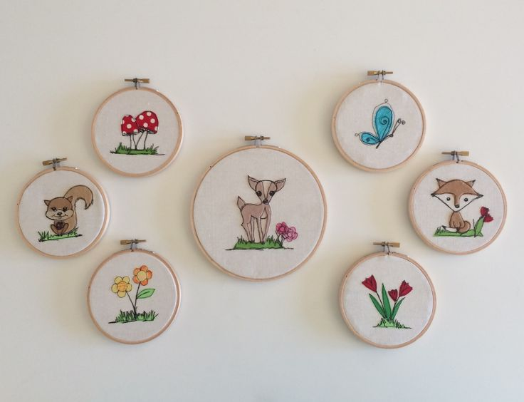 Felted freemotion embroidery hoop art