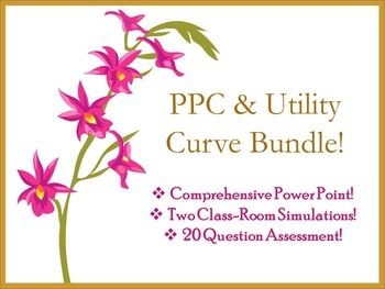 One week's teaching in a box!This bundle includes a 29 slide power point with all the information you ever wanted to know about the Production Possibilities Curve, The Budget Line, and Indifference Curves:Power Point Presentation Two fun and engaging simulations to get the students out of their seats!Simulations A comprehensive 20 question multiple choice test with answer key and TEKS alignment, sure to make any administrator proud :) 20 Question Multiple Choice Test Day 1: Production…