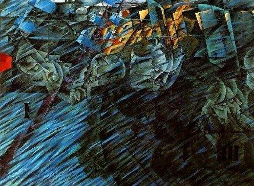"""Anya on Twitter: """"My day - just stop plz!! Boccioni """"States of Mind: Those Who Go"""" (1911) https://t.co/Lj1IB7J3Gd"""""""