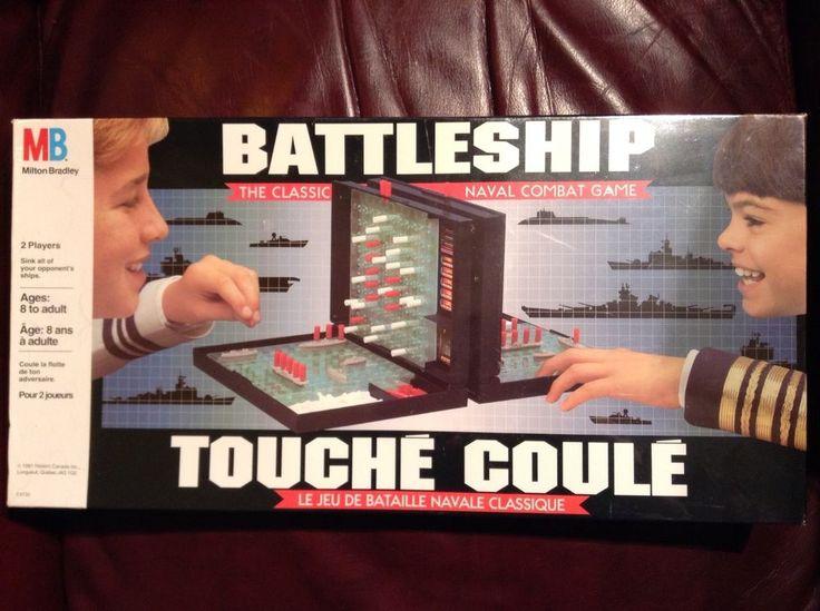 NEW VTG 1991 BATTLESHIP GAME MILTON BRADLEY CLASSIC NAVAL COMBAT GAME Fre/Eng #MiltonBradley