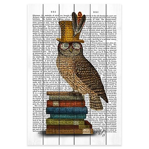 The Marmont Hill  Owl and Books Wall Art feature finely crafted white pinewood and UV ink print. A scholarly and bespectacled owl rests atop some books with a stylish text overlay— this ready to hang accent is sure to elevate your decor.