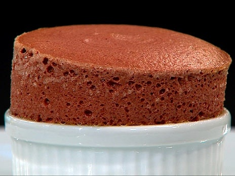 Choklad och hallonsufflé