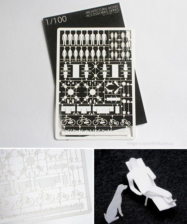 Create your own little paper wonderland with these perfectly cut paper pieces