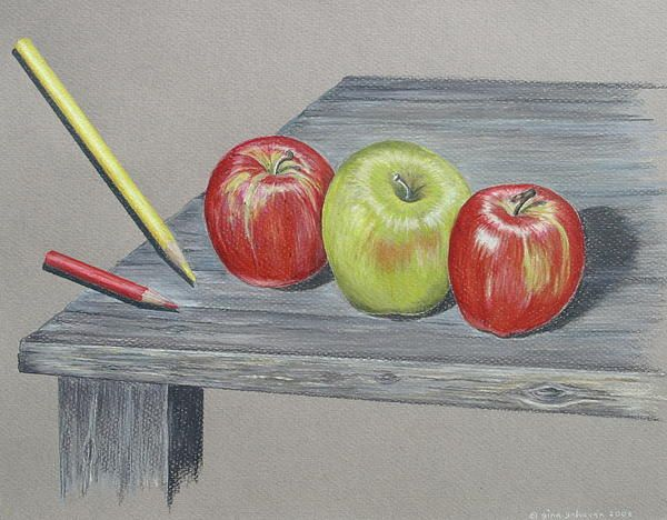 60 best Colored pencil apples images on Pinterest ...