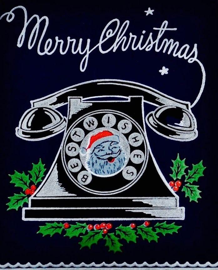 #merrychristmas #bestwishes Black Velvet Christmas Card. Vintage Christmas Card. Retro Christmas Card.