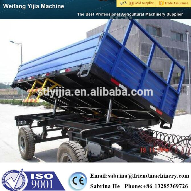 Farm machinery side tipping agricultural hydraulic dump trailer for sale
