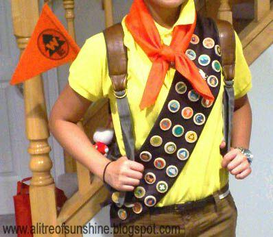 closeup. a litre of sunshine: Making My Halloween Costume: Russell the Wilderness Explorer