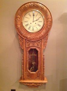 Details About Antique Regulator A School House Wall Clock