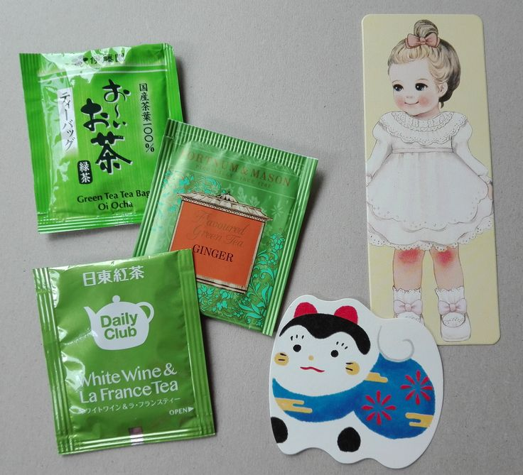 Received from Japan: teabags and a bookmark (swap: tea envelope GREEN~INTL)