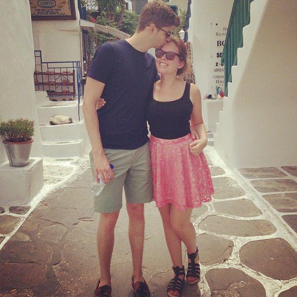 Tanya Burr and Jim Chapman (Tanya 's instagram)