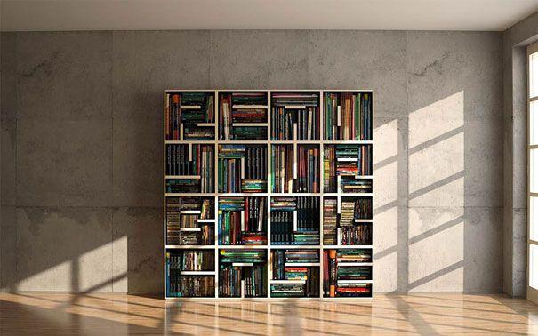 creative bookshelve