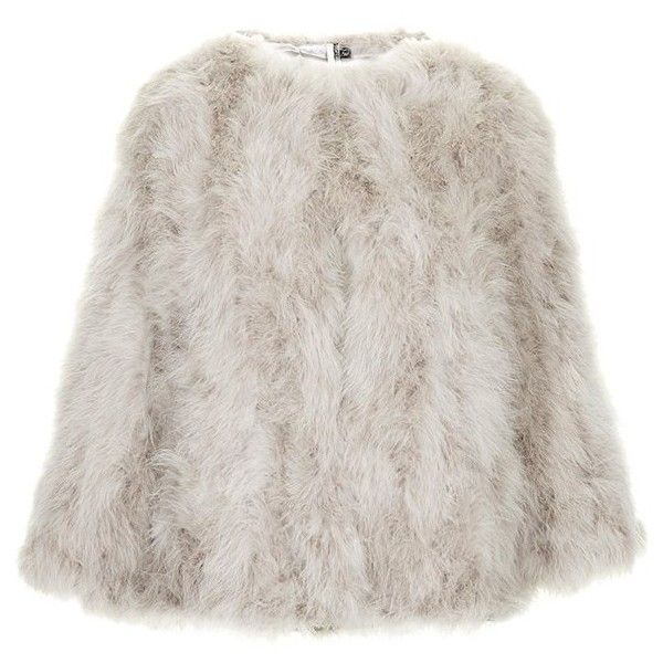 Women's Topshop 'Vanessa' Boxy Marabou Coat (5.953.380 VND) ❤ liked on Polyvore featuring outerwear, coats, jackets, fur, feather coat, topshop, fur coat und topshop coat
