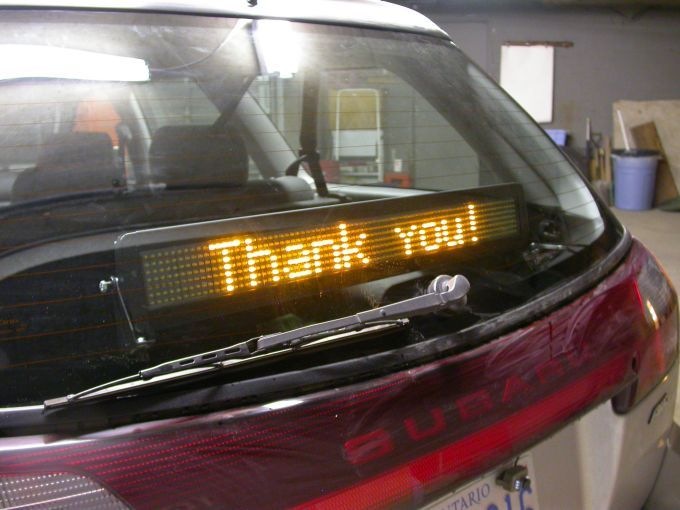 Avbrand Com Projects Programmable Led Sign Mounted In