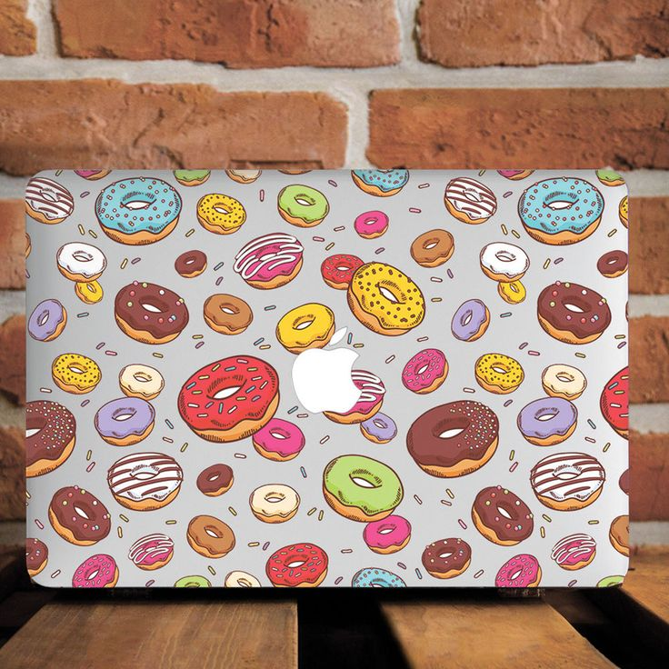 Sweet Donuts Hard Plastic Case Skin Cover For Macbook Pro Retina 15 Air 11 13
