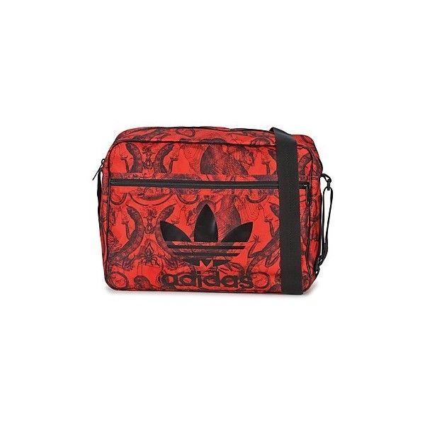 adidas AIRLINER RGB Messenger bag (160 BRL) ❤ liked on Polyvore featuring bags, messenger bags, messenger bag, pink, red bag, adidas, red messenger bag and adidas messenger bag