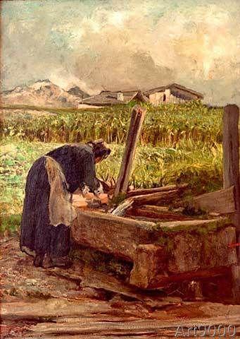 Giovanni Segantini - La lavandaia