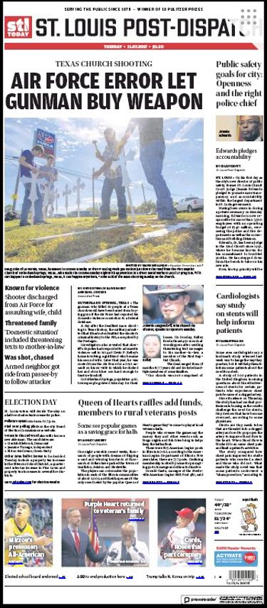 Today's Front Page: 11/7/17