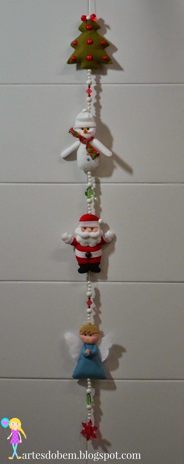 Artesanato Do Bem: Móbile de Natal em feltro