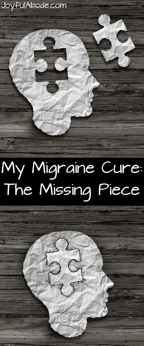 My Migraine Cure: The Missing Piece - How I cured my migraines and kept them away for good.