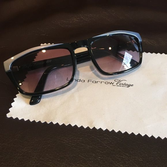 Linda Farrow Vintage Sunglasses Authentic Linda Farrow Vintage Sunglasses. Black with sliver accent and arms. On inside arm, Linda Farrow 232. Comes with Linda Farrow case and cleaning cloth. Linda Farrow Accessories Sunglasses