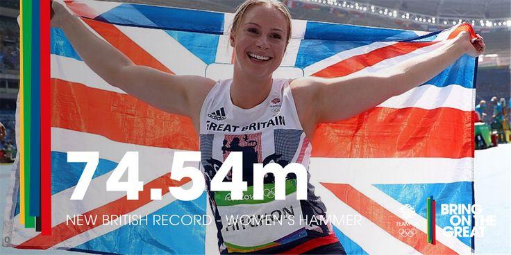 Sophie Hitchon celebrates winning Bronze in Hammer at Rio