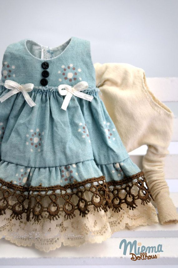 DRESS vintage Style for Blythe by Miema Dollhouse par miema4dolls