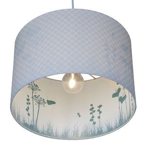 Schaduw lamp Little DutchMintgroen  Schaduw lampvan LittleDutch voor in eenmintgroene kinderkamer.In de schaduw staat een tafereeltjevan vlinders en weidebloemenwat zichtbaar wordtzodra de ...