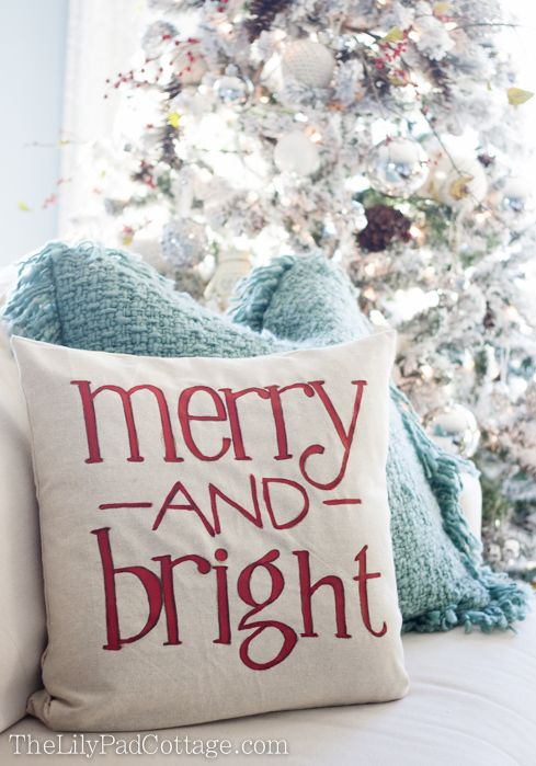 Christmas Pillow - and a ketchup chair & 408 best pillows images on Pinterest | Cushions Diy christmas ... pillowsntoast.com