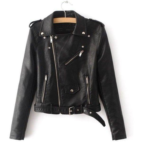 """WALK AWAY"" Cropped Leather Jacket Kožené bundy ❤ liked on Polyvore featuring outerwear, jackets, genuine leather jackets, 100 leather jacket, fitted leather jackets, buckle leather jacket and punk leather jacket"