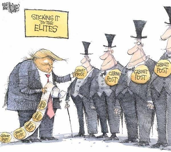 sticking it to the elites - by Matt Davies.
