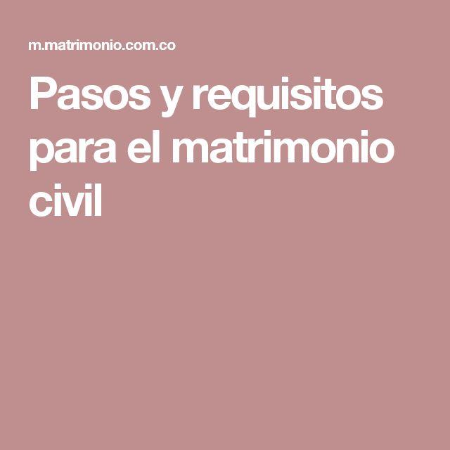 Pasos y requisitos para el matrimonio civil