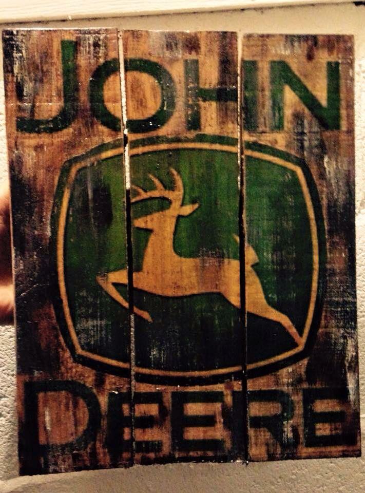 Pallet john deere sign