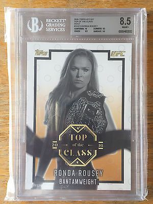 2014 Topps UFC Knockout Triple Threads RONDA ROUSEY Jersey Relic Book BGS # 8/18