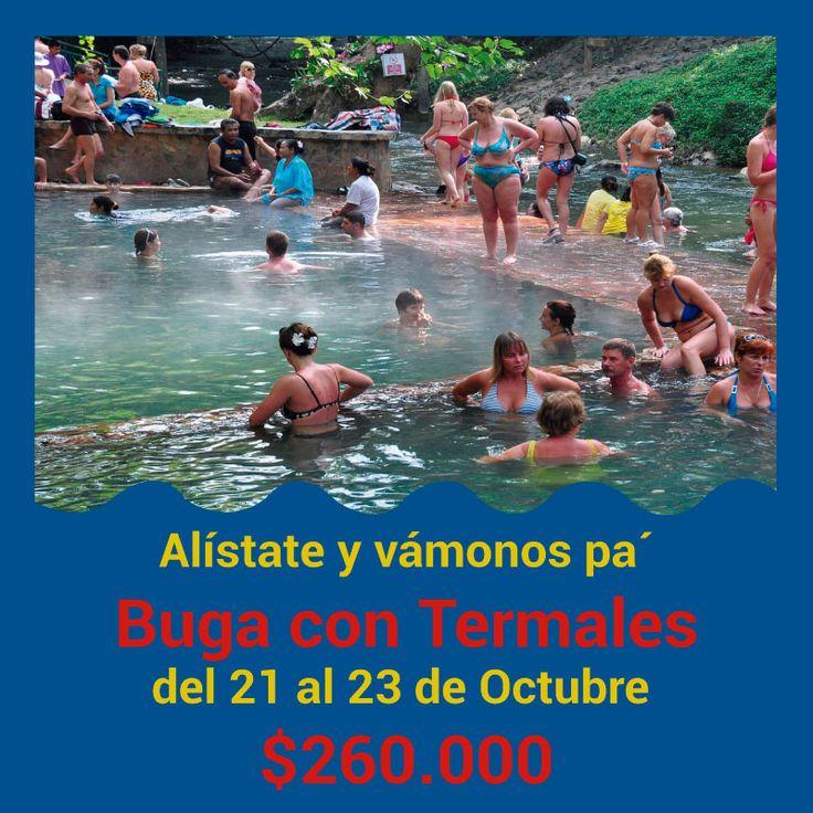 #vamonosdefinde pa' los atractivos termales de #buga con un precio económico #disfrutacolombia