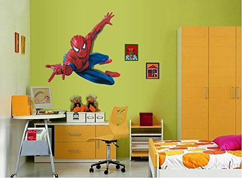 Cartoon Spiderman Wall Decal Home Sticker Paper Removable Living Dinning  Room Bedroom Kitchen Art Pi @