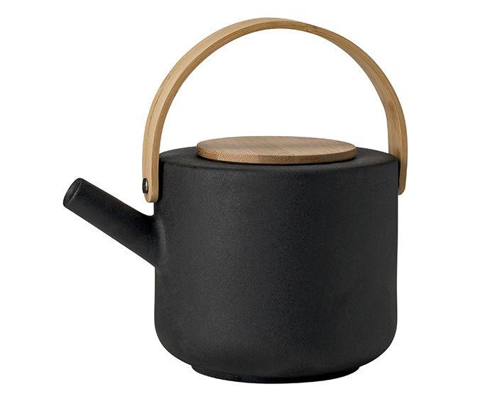 Théière en porcelaine noire (Théo)