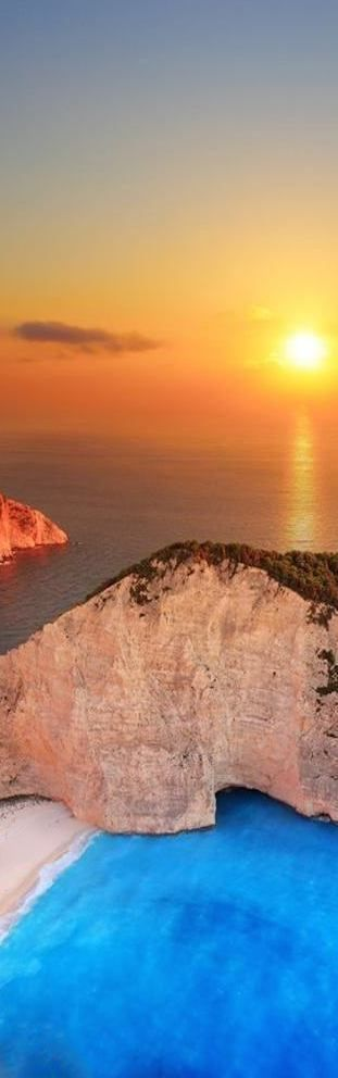 Sunset, Shipwreck Beach, Lonian Islands, Greece